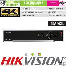 16TB 4K UHD H.265 12MP HIKVISION SMART VCA NVR 16 CHANNEL 16POE IP CCTV RECORDER