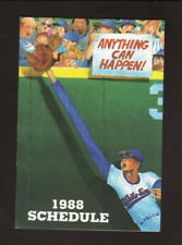 Chicago White Sox--1988 Pocket Schedule--Old Style