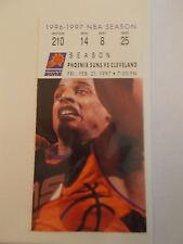 Phoenix Suns Cleveland Cavaliers 2-21-97 Ticket Stub Steve Nash Rookie (SKU3)