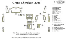 JEEP GRAND CHEROKEE 2005 DASH TRIM KIT d