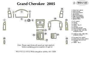 JEEP GRAND CHEROKEE 2005 DASH TRIM KIT d