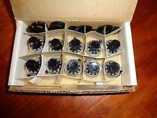 10 BECKMAN HELIPOT DUODIAL 15 TURN PRECISION POTENTIOMETER KNOBS 1/4 IN SHAFT L6