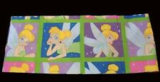 """Disney TINKERBELL Colorful Bright Squares 3-1/4"""" Rod Pkt Valance 84"""" x 15"""" NWOT"""