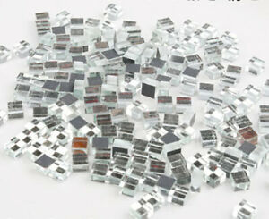 5MM Silver Mirror Glass Mosaic Tiles For Crafts Supplies Wall Artwork 180 Pieces