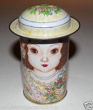Vintage 1984 B. Shackman & Co. Lady With Hat Lid Rare Tin HTF VGC