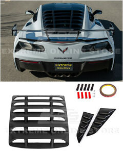For 14-19 Corvette C7 Coupe Rear & Side Quarter Window Louver Sun Shade Cover