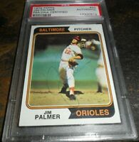 1974 Topps Jim Palmer #40 HOF BALTIMORE ORIOLES SIGNED AUTO AUTOGRAPH PSA/DNA