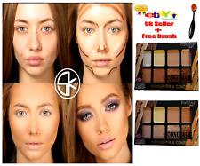 NEW Party Star 8 Colour Fix Contour Makeup Palette Cream Powder Concealer Kit