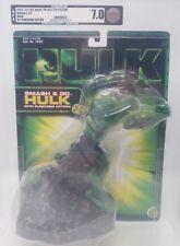 2003 HULK MOVIE AFA GRADED 7.0 SMASH & GO WITH PUNCHING ACTION TOY BIZ MOC!