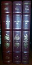 WORKS OF PLATO 3 Volume Set Franklin Library 25th Anniversary First Edition 1st