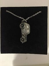 "Ford Popular 103 E ref87 Car Emblem on Silver Platinum Plated Necklace 18"""