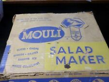 Vintage Mouli Salad Maker in Org Box and 5 Blades