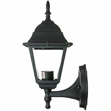 Up-Facing Post Outdoor Fixture Black Powder Clear Beveled Glass Free Shipping Us