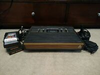Atari 2600 Console Coax Adapter Plays on Modern TV Tested Lot w Games Superman