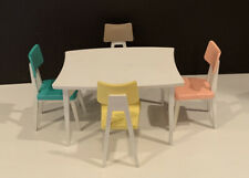 Vintage Barbie Doll Dream Kitchen Set House Deluxe Reading Corp Table Chairs