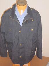 Barbour Cotton Blend Brimham Jacket Suede Trim Collar  NWT Large  $349 Navy