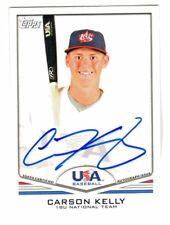 2011 Topps USA Baseball AUTOGRAPH CARSON KELLY ON CARD AUTO St Louis Cardinals