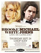 Brooke White & Michael Johns 2009 Poster American Idol Gig Seattle Concert