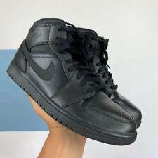 TRIPLE BLACK Air Jordan 1 Mid. Men's6   Women's size 8 USED   Good condition