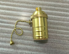 1PC Solid Brass Light Socket, Pull Chain On/Off, Vintage Industrial Lamp Pendant