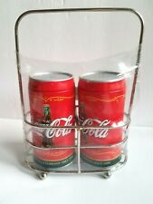 Vintage Coca Cola Advertising Salt & Pepper Shakers W/holder Rack New Coke