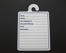 Car Window For Sale Mirror Hanger Silent Salesman Specification Cards Pk Of 50