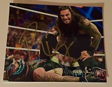 Roman Reigns Signed WWE 8x10 Photo COA