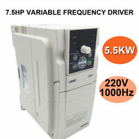 7.5HP 5.5KW VFD Inverter Driver 220V 3ph 24A Variable Frequency Driver 0-1000Hz
