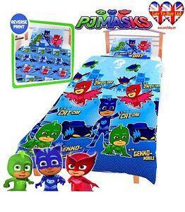 PJ Masks Duvet Set,Toddler Duvet Cover& Pillowcase,Official Licensed(150X120cm)