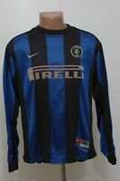 INTER MILAN ITALY 1999/2000 HOME FOOTBALL SHIRT JERSEY NIKE LONG SLEEVE SIZE M