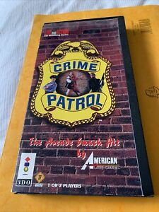 Crime Patrol - BOX & MANUAL ONLY - Very rare 3DO - Retro