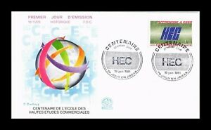 DR JIM STAMPS SCHOOL HEC CENTENARY LEARNING TO DARE FIRST DAY ISSUE FRANCE COVER