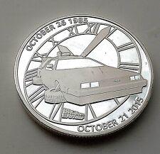 Volver Al Futuro Delorean Tiempo Máquina de Viaje Moneda De Plata 80s Retro nos increíble