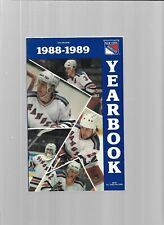 1988-89 New York Rangers Hockey Media Guide---Players   Acceptable
