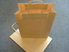 30 Brown Kraft Paper Twist Handle Gift Accessory Carrier Bags 18 x 8 x 23cm