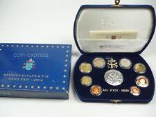 *** EURO KMS VATIKAN 2002 PP Polierte Platte Kursmünzensatz Vaticano Coin Set **