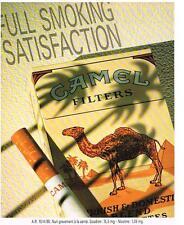 PUBLICITE  ADVERTISING   1991   CAMEL  CIGARETTES FULL SMOKING SATISFACTION