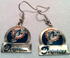 Miami Dolphins Circle Style Dangle Earrings