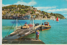 Austin A40 Farina & Ford Anglia 105E on Lower Ferry, Dartmouth, Devon