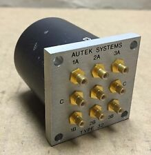 RF 5RF Autek Systems Type 32 9-Port Radio Frequency Coaxial Switch Module DIP
