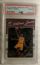 2016-17 Donruss Optic Lebron James PSA 10 GEM MINT w/ Kobe Bryant Base Card #15