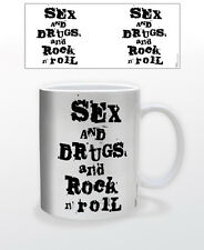 SEX AND DRUGS AND ROCK ´N ROLL 11 OZ COFFEE MUG ELECTRIC GUITAR DRUMS LIFESTYLE!