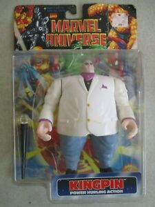 VTG 1997 MARVEL UNIVERSE KINGPIN POWER HURLING FIGURE WITH PACKAGING