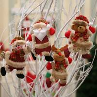 Christmas Ornaments Santa Claus Snowman Reindeer Toy Doll Hang Decoration Gifts