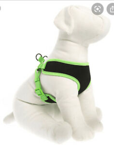"""TOP PAW REFLECTIVE VEST HARNESS SIZE X SMALL GIRTH 16-18"""" BLACK/GREEN #6215"""