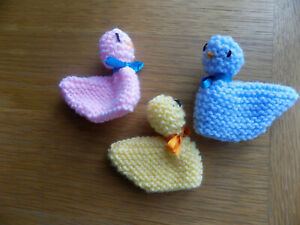 Hand knitted Easter chick covers x 3