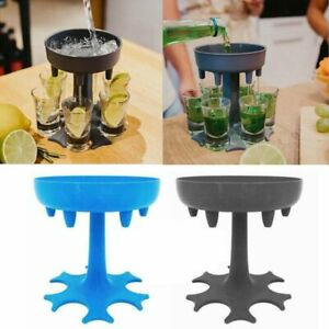 6 Shot Liquor Dispenser Beer Glass Dispenser Wine Holder Carrier Barware Party