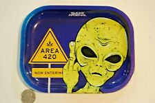 Marijuana Cannabis Joints ROLLING TRAY Small  AREA 420  (18X14CM)  5.5 x 7 inch