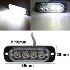 White 4LED 4W 12-24V Bar Car Truck Strobe Flash Emergency Warning Light Lamp