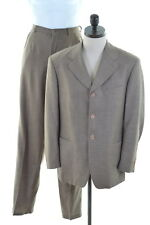 DOLCE & GABBANA Mens Two piece Suit Size 38 Medium W30 L34 Grey Wool